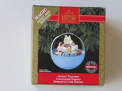 1992 Continental Express Hallmark Light & Motion Ornament Tested as Working