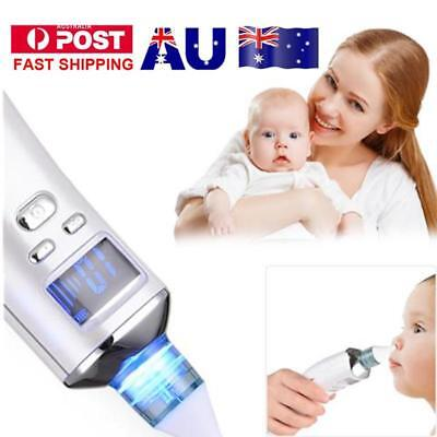 AU Newborn Baby Nasal Aspirator Electric Nose Cleaner Safe Hygienic Snot Sucker