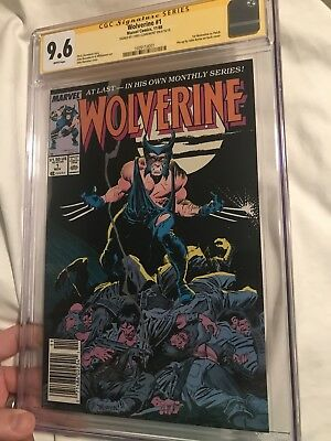1988 Marvel WOLVERINE #1 1ST PATCH CGC 9.6 SS ~ Signed By Claremont - Newsstand
