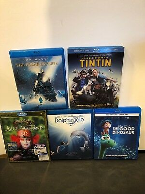 Lot of 5 Kid Appropriate movies Blu-ray ( K4 )