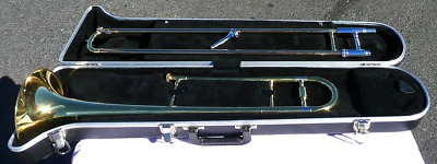 KOHLERT Student Trombone Outfit w/ HS Case - Plays / Looks Great - Band Shop Wty