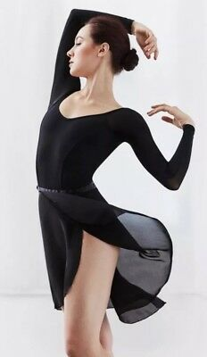 Capezio Wrap Skirt 15 Inches Capezio Black Wrap Skirt Petite/Small NEW with Tags