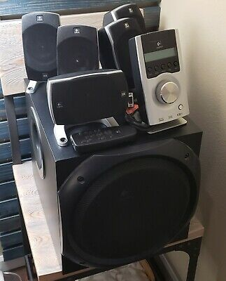 9afafba9330 Logitech Z5500 5.1 THX 505 WATTS RMS Speaker System Subwoofer Remote  Complete