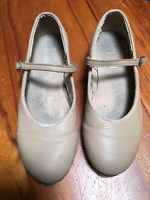 Girls Tan Bloch Tap Shoes Size 1