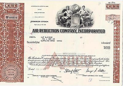 Air Reduction Company, Incorporated über 17 shares, datiert auf 13.02.1970