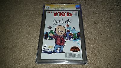 Ultimate End #1 (July 2015, Marvel) CGC 9.6 SS x2 Variant Bendis & Scottie Young