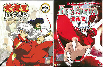 Anime DVD Inuyasha Complete TV Series + Final Act + 4 Movies English Dubbed SC