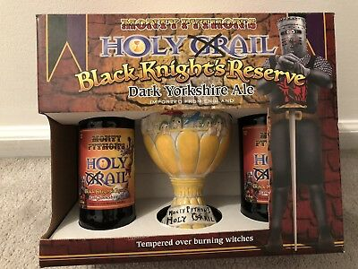 Monty Python's Black Knights Reserve Holy Grail 3-D Ceramic Mug & Beer Set NIB