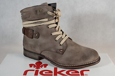 79d2a5f0eb Rieker 97733 Tex Women's Lace-Up Boots Ankle Boots Beige Waterproof New