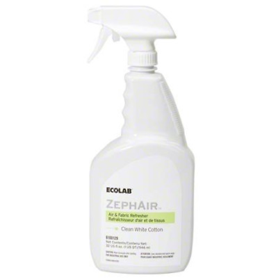 Ecolab 00129 ZephAir Clean White Cotton Air Freshener, Commercial-Grade Room