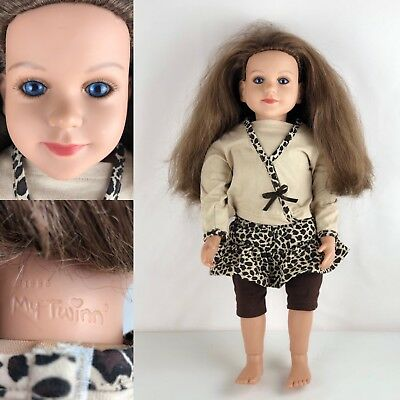 "My Twinn 23"" Poseable Bright Blue Eyes Doll 1996 Head 2009 Body With Outfit"