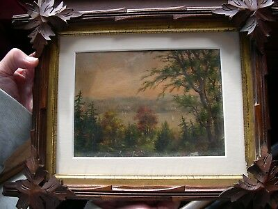 Antique American Hudson River Oil Painting/ South Nyack N.y. Dated 1883/ Signed