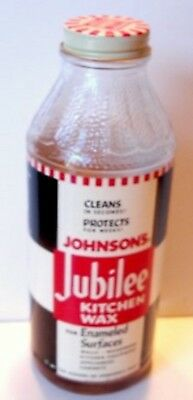Johnson's Jubilee Kitchen Wax Bottle Old Store Stock