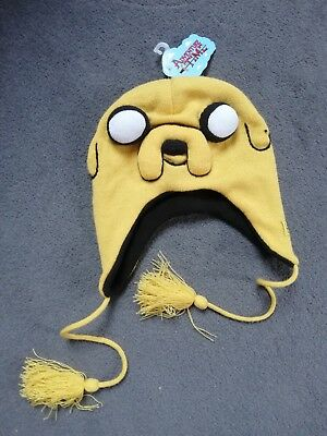 7c595d090b6 Adventure Time – Jake the dog yellow beanie hat with tassels BRAND NEW WITH  TAGS