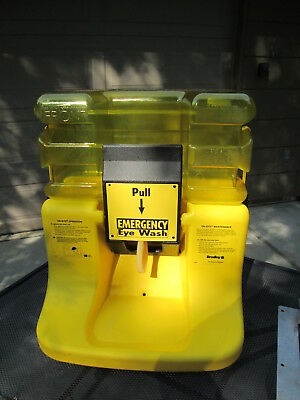 Used  Stock Bradley On-Site Portable Gravity Fed Emergency Eye Wash Station