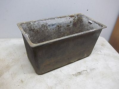 Old CI Wood Burning Stove Water reservoir Tank for  Flower Pot Garden Planter