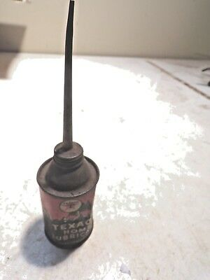 Old EMPTY  Texaco Home Lubricant  Oil Can