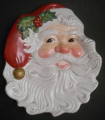 Fitz & Floyd Essentials Santa Claus Canapé Plate NEW in Box Christmas Party Wall