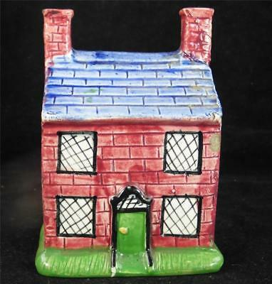 N785 Antique 19Th Century Pearlware Cottage Moneybox Money Box Staffordshire