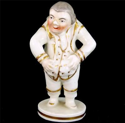 N777 Antique English Porcelain Figure Laughing Man Emblematic Of Mirth
