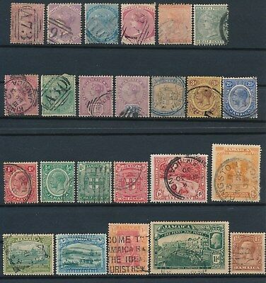 Jamaica **31 EARLY USED (1872-1937)**INCL #13a, #11, #39, #107-8 & MORE; CV $65+
