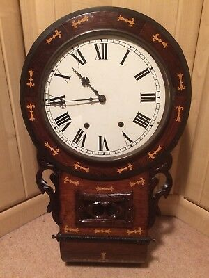 Antique 19th Century American Style Hanging Wall Clock