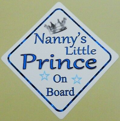 Baby Other Baby Safety & Health Hearty Handmade Grandads Little Prince Baby On Board Car Sign Special Buy