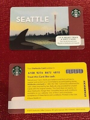 Starbucks Card 2015 Seattle Orca - NEW Unused MINT Condition