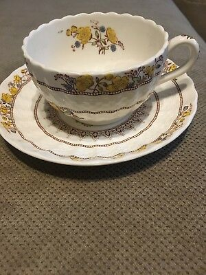 """Vintage SPODE Copeland Buttercup Older Mark China 2 1/8"""" Cup and Saucer"""