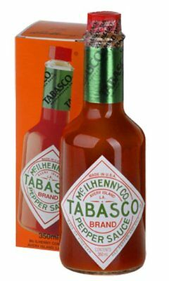 4 x Tabasco Pepper Sauce | 350ml Bottle | Large Size