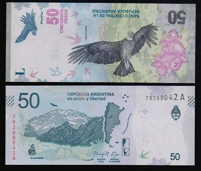 Argentina – P#new 50 Pesos 2018 New design Series A Uncirculated Banknote.