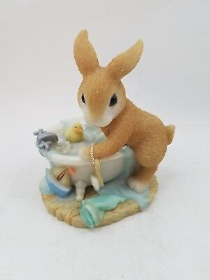 My Blushing Bunnies Cody Cuddles I'll Never Turn My Back On You  Enesco Figurine