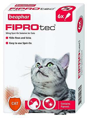 Beaphar FIPROtec Spot-On Treatment - 50mg (14367) 6 Pipettes