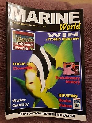 MARINE WORLD magazine first ever edition issue 1 clown fish water quality coral