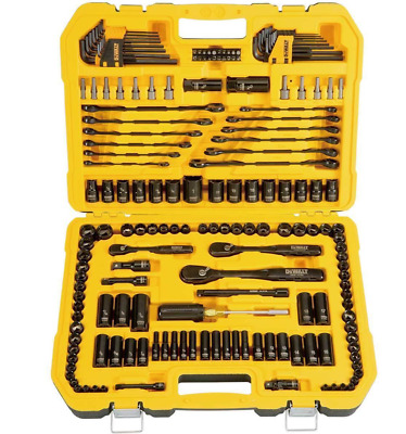 DEWALT® 181 Piece Mechanics Tool Set Ratchet Socket Spark Plug Kit BNIB
