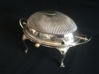 High Quality Antique Silver Plated Breakfast Dish Warmer C1900's