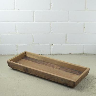 Brand New Large Handcrafted Wooden Tray Candle Holder Pot Plant Holder