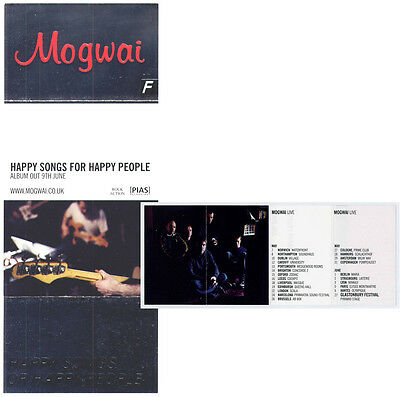 MOGWAI Happy Songs For Happy People set of 2 UK promo fold-out flyers MINT