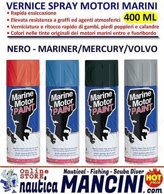 Vernice Spray Motor Paint Per Motori Marini Mariner Mercury Volvo - Nero 400Ml