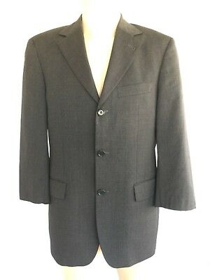 "1621881d1 Hugo Boss ""Angelico Parma Loro Piana Mens Sport Coat Blazer Suit Jacket  Gray 46R"