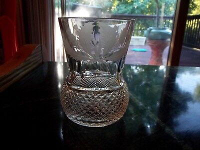 """Old Fashioned Glass Tumbler 4"""" Edinburgh THISTLE CUT Crystal ~MULTIPLE AVAILABLE"""