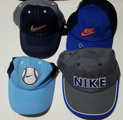 46378a58 Boys Nike Brand 100% Cotton Adjustable Ball Cap Hat Various Styles Size 4-7