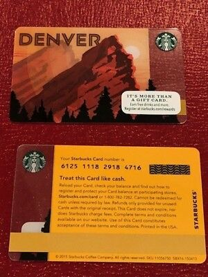 Starbucks Card 2016 Denver Colorado- Rocky Mountains - NEW MINT- Limited Edition