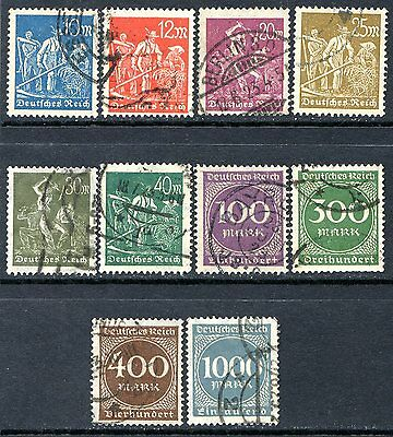 Germany Postage Stamps Scott 222-234, 10-Stamp Used Partial Set!! G649
