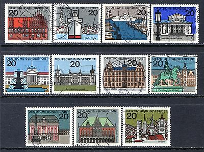 Germany Postage Stamps Scott 869-879, Used Partial Set!! G1421a