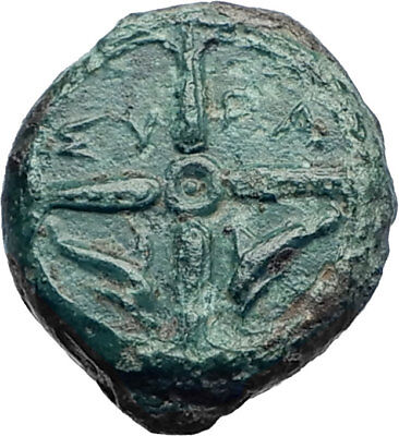 Syracuse Sicily 425BC Ancient Greek Coin  Nymph Arethusa DOLPHINS i73439