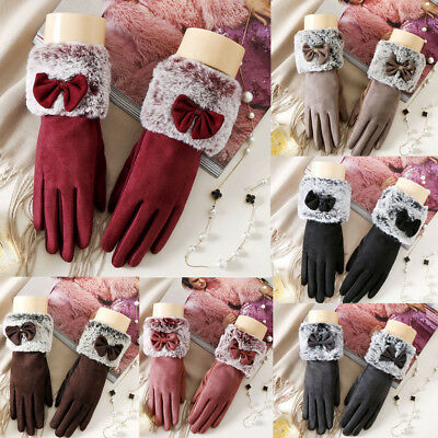 Touch Screen Gloves Suede Soft Winter Women Texting Active For Smart Phone UK