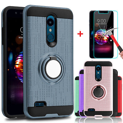 For LG Xpression Plus/Phoenix Plus Case With Ring Stand Holder+Screen Protector