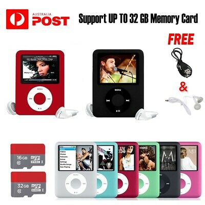 "32GB Memory iPod Style 1.8"" LCD MP3 MP4 Music Video Media Player With FM Radio"