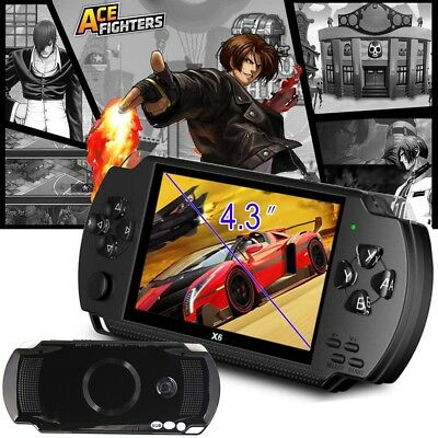 """Portable 4.3"""" Handheld PSP Video Game Consoles Player X6 8G 32Bit 10000 Games UK"""